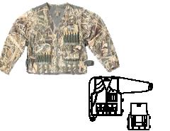 Куртка-жилет охотника Люкс-2 (смесовая ткань) Хольстер