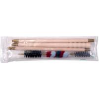 Набор для чистки 16клб., (шомпол в оплетке, п/э пакет)