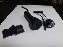 Фонарь подствольный (BL-Q9843-Q5) c 4 светофильтрами, 1свд, 2 кнопки, 30000W, з/у220В