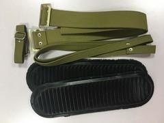 Комплект креплений для лыж брезент (амортизатор, носковой и пяточный ремень)