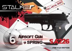 Пневмат. пистолет  Stalker SA226 Spring, клб. 6мм. (аналог SigSauer) металл, 80м/с, 13шар.