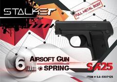 Пневмат. пистолет Stalker SA25 Spring, клб. 6мм. (аналог Colt 25) металл, 80м/с, 7шар.