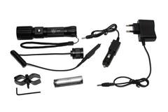 Фонарь подствольный (PQ-17-T6) Поиск с ZOOM, 1свд, 2 кнопки, з/у220В/12В/АСС, 180000W чемодан