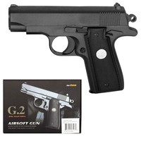 Пистолет софтэйр Galaxy G.2 пружинный, клб.: 6 мм. (Browning мини)