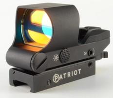 Коллиматор Patriot открытый 1x22х33 Weaver (подсветка красная, 4 уровня сетки)