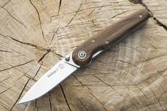 Нож складной Байкер-2 AUS-8, клинок-полировка, рукоять-дерево (011100) (ПП)