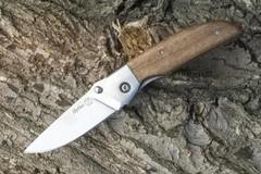 Нож складной Ирбис AUS-8, клинок-полировка, рукоять-дерево, стальные претины (011110) (ПП)