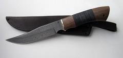 Нож Осетр дамасск кожа (МАИ)