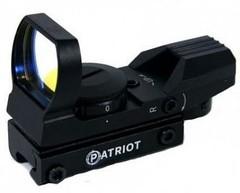 Коллиматор Patriot открытый 1x22х33 ласт. хвост (подсветка красная, 4 уровня сетки) с ЛЦУ