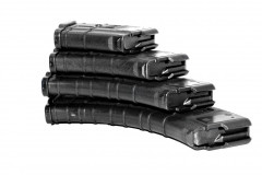 Магазин 40 мест. ВПО-133/Сайга-МК/М (без сухаря), клб.:7,62х39 (плс) PUFGUN черный, возм. укорочения