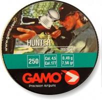 Пули Gamo Hunter, 4,5мм., (250шт.) 0,49гр.